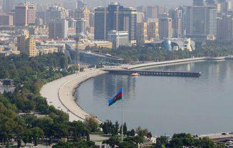 Baku bay in the daylight.